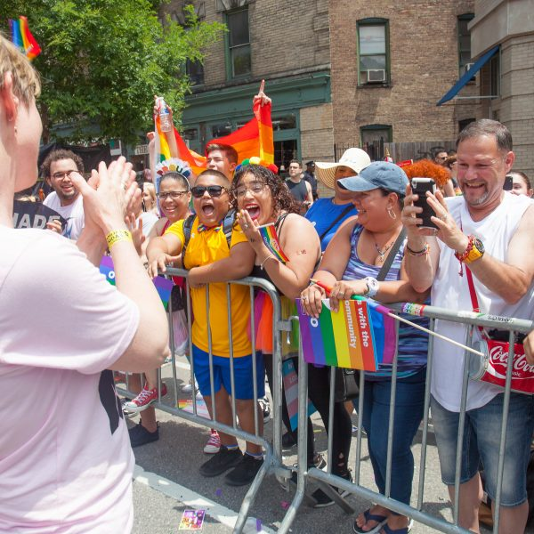 Sunday, June 24, 2018. New York City – New Yorkers celebrated the biggest LGBTQ Pride March in the United States of America. This year, the NYC Pride March celebrated 49 years. Cynthia Nixon was one of the thousands of people that marched this year. Cynthia is Lesbian and has a Transgender son. Cynthia Nixon is a lifelong New Yorker, actor, and progressive advocate running for governor of New York State to fight for a better, more fair New York. The primary elections in New York are on Thursday, September 13, 2018. Photo by Javier Soriano/LoveIsAmor.com
