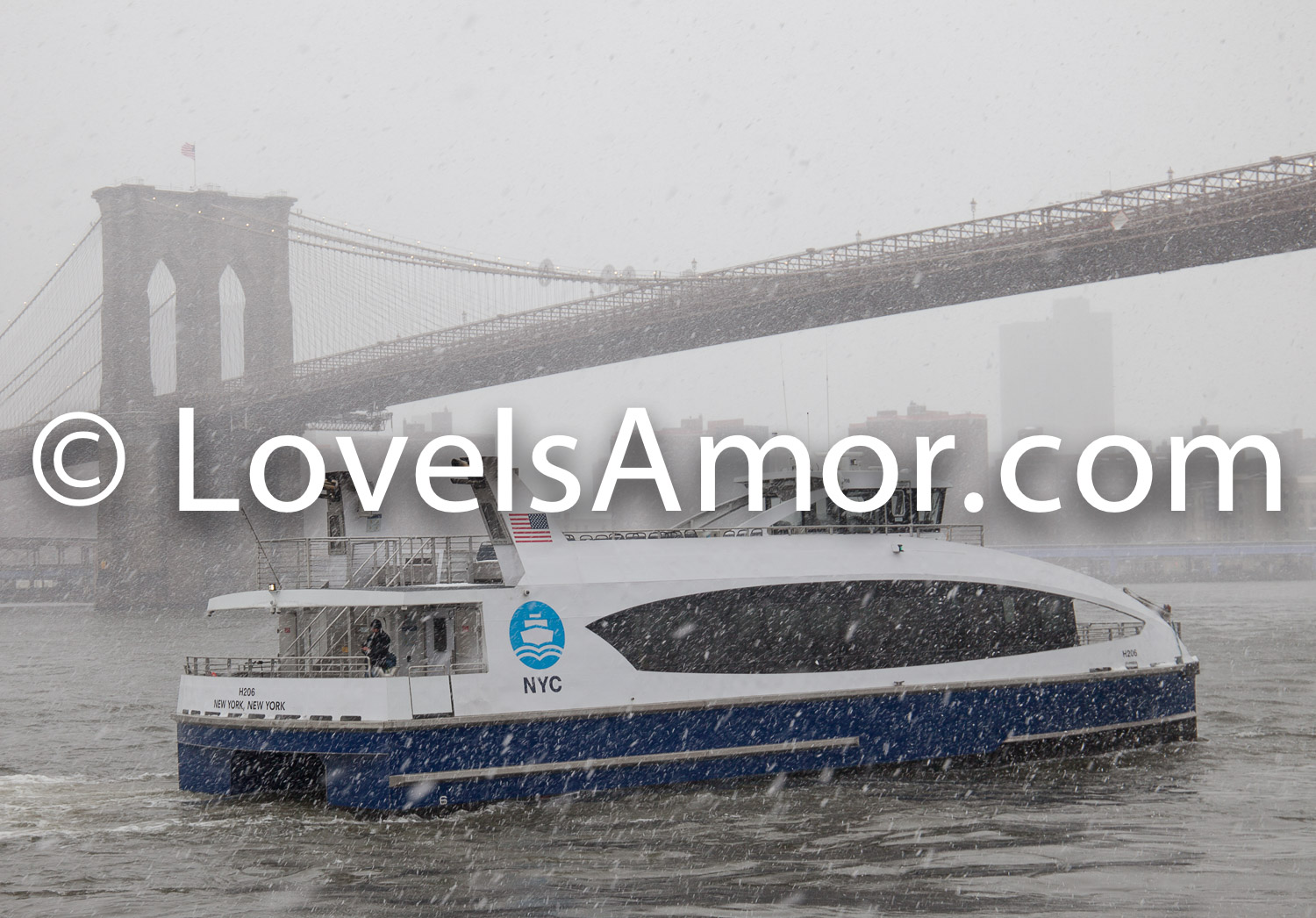 3/21/2018. Brooklyn Bridge Park, Brooklyn, NYC – Winter Storm Toby. 21/3/2018. Parque del Puente de Brooklyn. Ciudad de Nueva York – Tormenta de Nieve Toby. Photo by Javier Soriano/LoveIsAmor.com