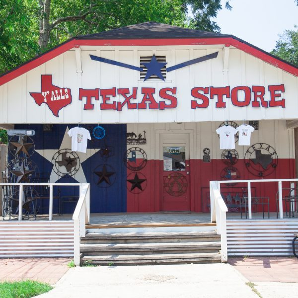 "Thursday, August 2, 2018 - Old Town Spring. Spring, Texas. ""Y""ALLS TEXAS STORE"" Credit: Photo by LoveIsAmor.com"