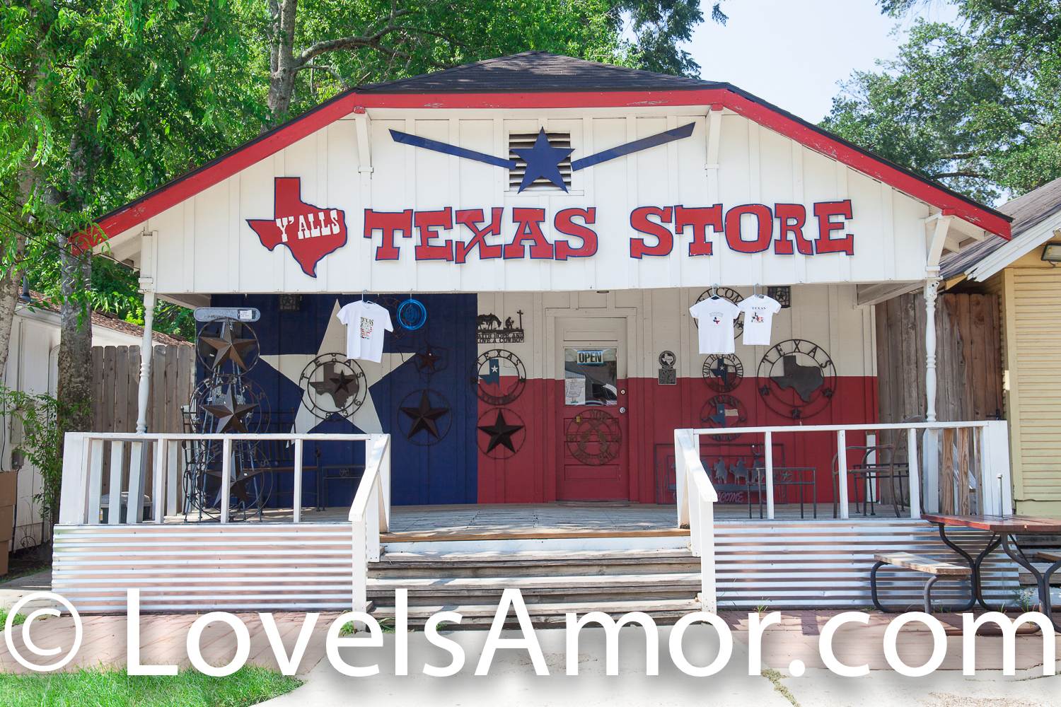 "Thursday, August 2, 2018 - Old Town Spring. Spring, Texas.  ""Texas store""  Photo by LoveIsAmor.com"