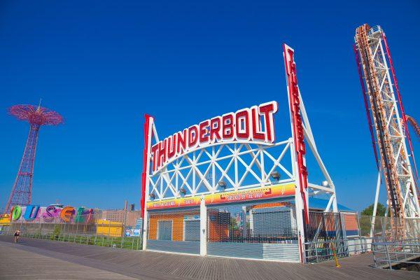 9/5/2018 Boardwalk, Parachute Jump and Thunderbolt. Coney Island. Brooklyn, New York City. Credit: Photo by LoveIsAmor.com