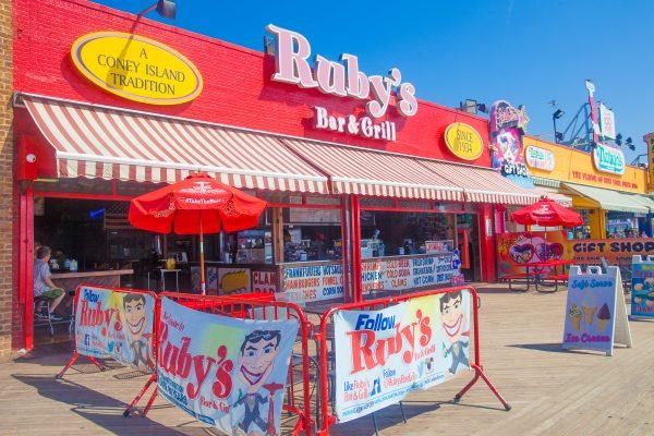 9/5/2018 Boardwalk and Ruby's Bar & Grill. Coney Island. Brooklyn, New York City. Credit: Photo by LoveIsAmor.com