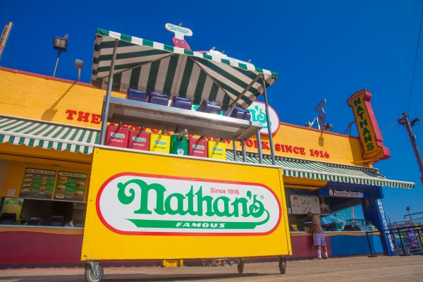 9/5/2018 Boardwalk and Nathan's (the flavor of New York since 1916). Coney Island. Brooklyn, New York City. Credit: Photo by LoveIsAmor.com