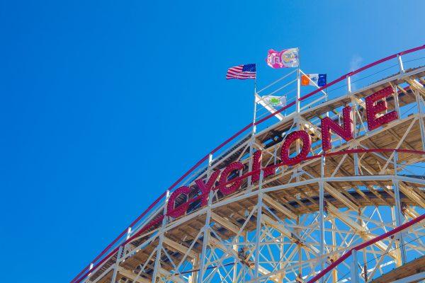 9/5/2018 The Cyclone roller coaster. Coney Island. Brooklyn, New York City. Credit: Photo by LoveIsAmor.com