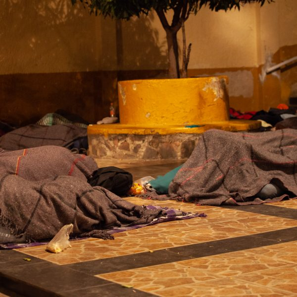 "Tlaquepaque, Guadalajara. Jalisco, Mexico. Monday, November 19th, 2018. Refugees from El Salvador sleep at ""El Refugio. Casa del Migrante."" They are part of the third caravan. They want to travel to Tijuana and apply for asylum in the United States of America. Credit: Photo by LoveIsAmor.com"