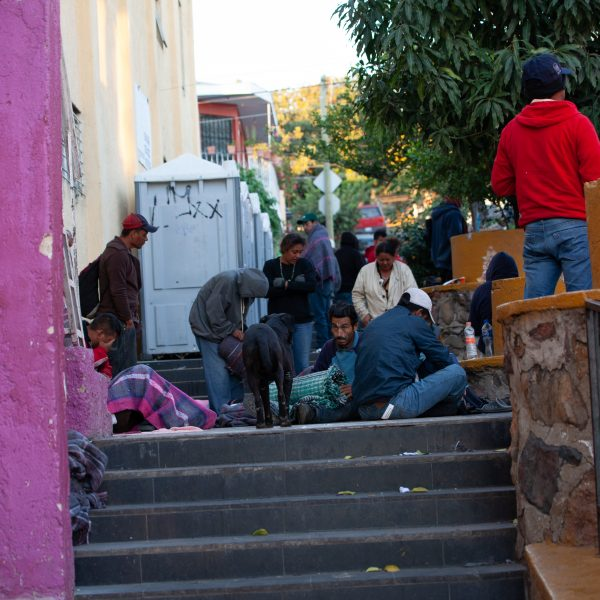 "Tlaquepaque, Guadalajara. Jalisco, Mexico. Monday, November 19th, 2018. Refugees from El Salvador waking up. They slept at ""El Refugio. Casa del Migrante."" They are part of the third caravan. Credit: Photo by LoveIsAmor.com"