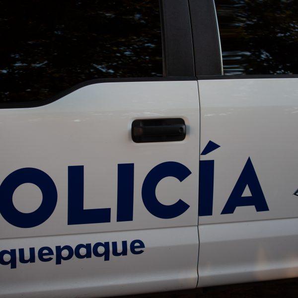 """Tlaquepaque, Guadalajara. Jalisco, Mexico. Monday, November 19th, 2018. Refugees have been staying at """"El Refugio. La Casa del Migrante."""" This a police patrol car from Tlaquepaque. Credit: Photo by LoveIsAmor.com"""