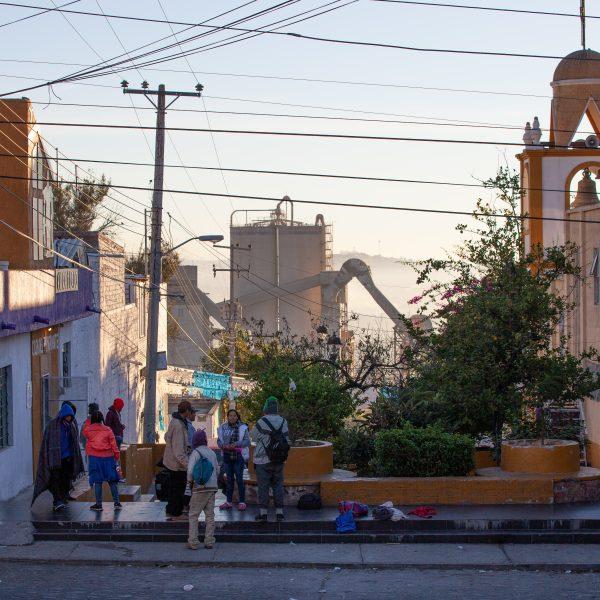 """Tlaquepaque, Guadalajara. Jalisco, Mexico. Monday, November 19th, 2018. Refugees at """"El Refugio. La Casa del Migrante."""" Credit: Photo by LoveIsAmor.com"""