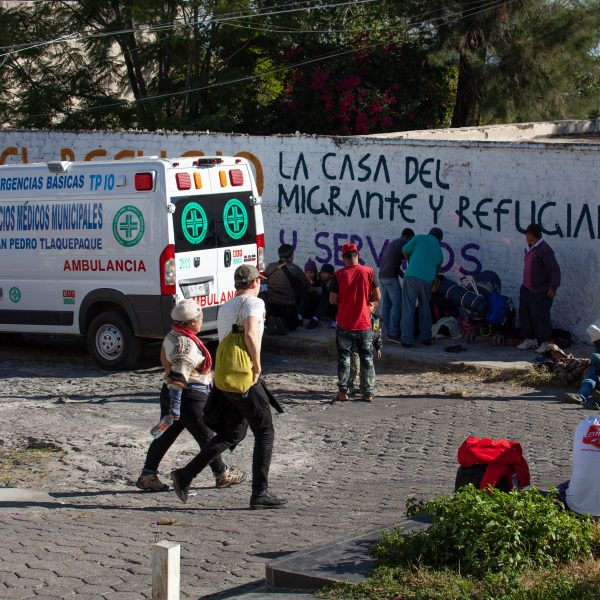 "Tlaquepaque, Guadalajara. Jalisco, Mexico. Monday, November 19th, 2018. Hundreds of refugees fleeing violence and extreme poverty in Central America have been staying at ""El Refugio. Casa del Migrante"" for one or two days. These immigrants are part of the second caravan. Credit: Photo by LoveIsAmor.com"