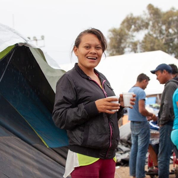 Tijuana, Baja California. Mexico. Thursday, November 29th, 2018. A refugee boy wanted to take a picture with my camera. He took a picture of his mother. Refugees are staying at Unidad Deportiva Benito Juárez (an improvised shelter for the caravans of immigrants). Refugees are fleeing violence in their countries in Central America. They want to apply for asylum in the United States of America. They were told they have to wait more than a month to apply for asylum. Credit: Photo by LoveIsAmor.com