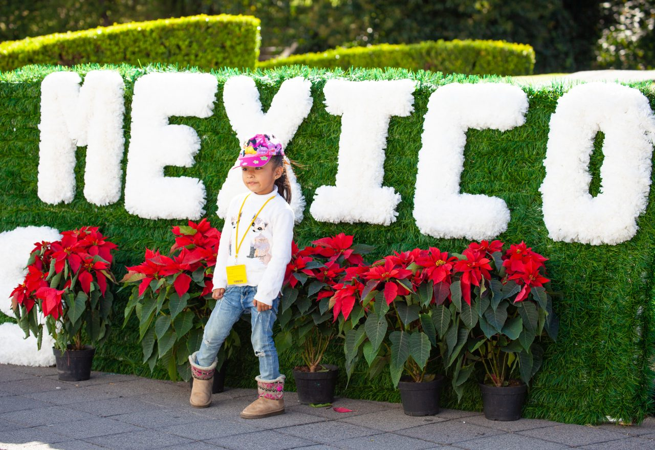 "Mexico City, Mexico. Saturday, December 1, 2018. A little girl at Los Pinos Cultural Complex. The ""Official Residence of Los Pinos"" was the residence of the Mexican presidents. As of Saturday, December 1, 2018, it will be known as the ""Los Pinos Cultural Complex."" The official website says: ""Los Pinos will be a completely open space for all Mexicans."" Today was the inauguration of Mexican President Andrés Manuel López Obrador. People came to Los Pinos to celebrate this historic day. Credit: Photo by LoveIsAmor.com"