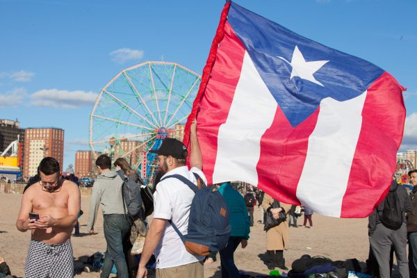Coney island, Brooklyn. New York City. Tuesday, January 1, 2019 - Today was the New Year's Day Polar Bear Plunge at Coney Island, New York City. The temperature was more than 50 degrees today. Hundreds of people attended the event. Credit: Photo by LoveIsAmor.com