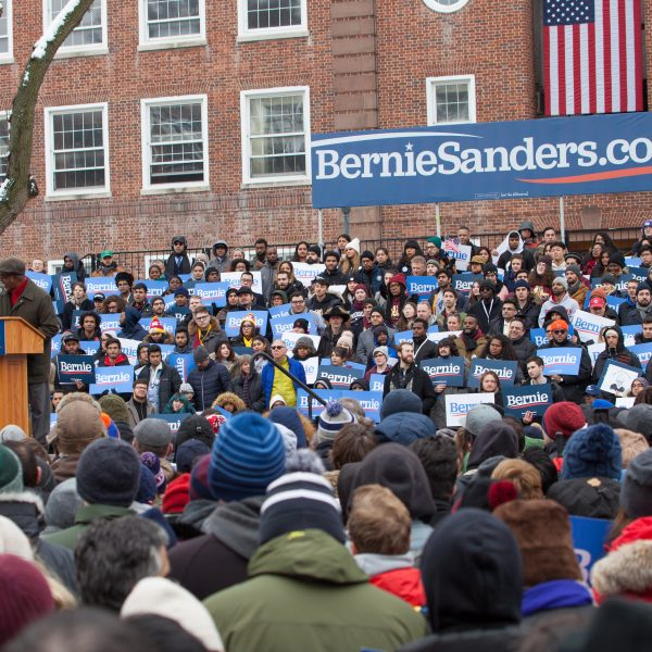 Saturday, March 2, 2019. Brooklyn College. Brooklyn, New York City. South Carolina Representative Terry Alexander speaks to the more than 10 thousand supporters of U.S. Senator and presidential candidate Bernie Sanders. This was the first event of his 2020 presidential campaign. Although it was cold, people were happy to be there. Photo by LoveIsAmor.com