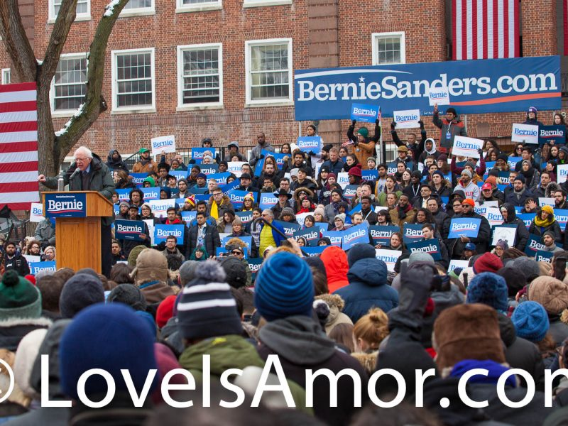 Saturday, March 2, 2019. New York City - United States of America Senator and 2020 presidential candidate Bernie Sanders and his supporters. Photo by LoveIsAmor.com
