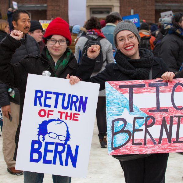 Saturday, March 2, 2019. Brooklyn College. Brooklyn, New York City - Supporters of the United States of America Senator and 2020 presidential candidate, Bernie Sanders. Credit: Photo by LoveIsAmor.com
