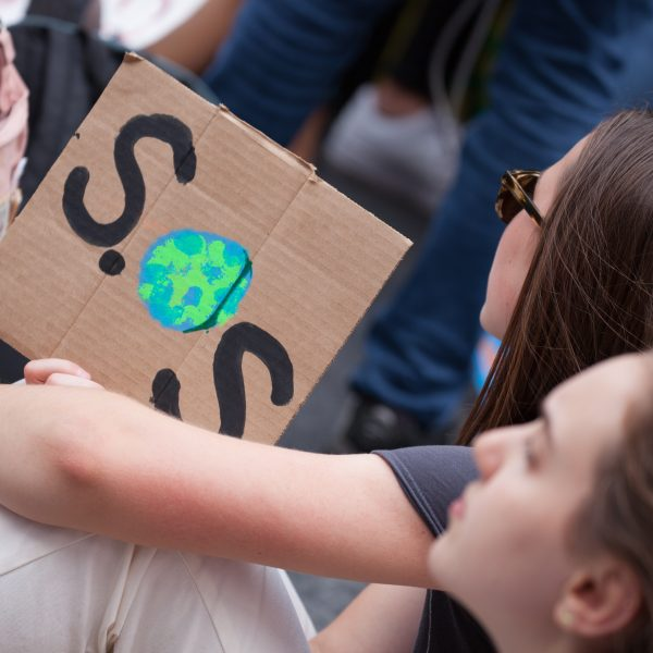 "Friday, May 24th, 2019. New York City - Today was the 2nd Global Climate Strike. Hundreds of students, some teachers, parents and other people gathered at Columbus Circle and then marched to Times Square in Manhattan. They demanded that ""NYC Mayor (and U. S. presidential candidate) Bill de Blasio follow the UK, Ireland and countless cities around the world who have declared a Climate Emergency."" More than 1 million students, teachers, parents, politicians and other people from around the world went on strike in protest of the climate crisis. Credit: Photo by LoveIsAmor.com"