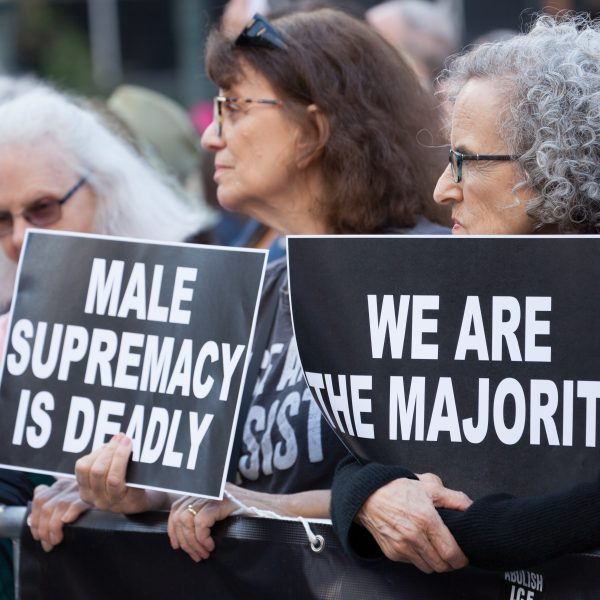 """Tuesday, May 21, 2019. New York City – Today, over 500 """"Stop The Bans"""" rallies took place across the United States of America. Women and men gathered at Foley Square Park in Manhattan, New York City, to demand Republicans stop attacking women's rights. Credit: Photo by LoveIsAmor.com"""