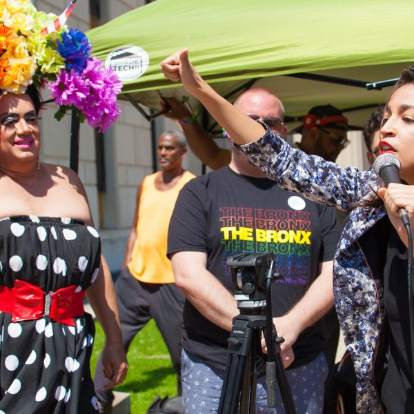 Sunday, June 23rd, 2019. Bronx, New York City - Today was the 1 Bronx World Pride Rally, March and Festival. Alexandria Ocasio-Cortez Congresswoman for New York's 14th congressional district: Bronx - Queens, was one of the speakers. Credit: Photo by LoveIsAmor.com