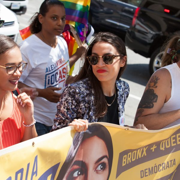 Sunday, June 23rd, 2019. Bronx, New York City - Today was the 1 Bronx World Pride Rally, March and Festival. Alexandria Ocasio-Cortez Congresswoman for New York's 14th congressional district: Bronx - Queens, was one of the speakers. AOC (often referred to by her initials) marched from 161st Street and Grand Concourse to 149th Street and 3rd Ave. Credit: Photo by LoveIsAmor.com