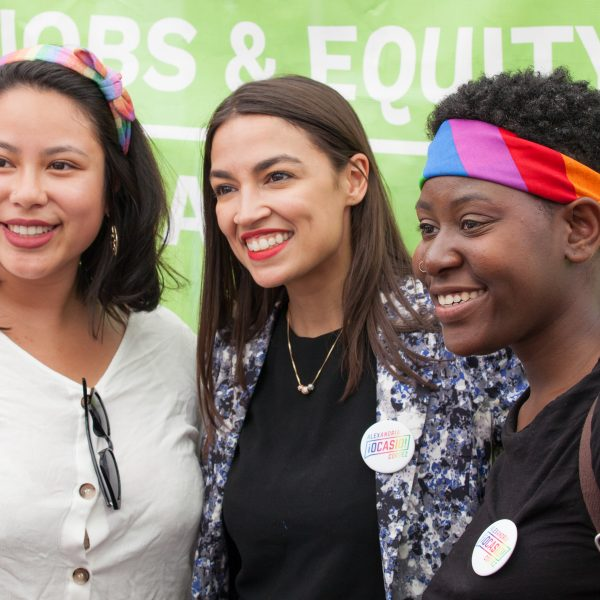 Sunday, June 23rd, 2019. Bronx, New York City - Today was the 1 Bronx World Pride Rally, March and Festival. Today people celebrated Bronx World Pride, Pride Month and the 50th anniversary of the Stonewall Rebellion. Alexandria Ocasio-Cortez Congresswoman for New York's 14th congressional district: Bronx - Queens, was one of the speakers. AOC (often referred to by her initials) marched from 161st Street and Grand Concourse to 149th Street and 3rd Ave, where she took pictures with her supporters. Credit: Photo by LoveIsAmor.com