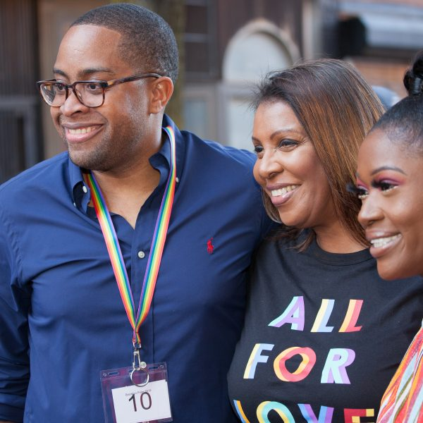 "Saturday, June 8th, 2019. Brooklyn, New York City - Letitia ""Tish"" James, 67th Attorney General for the State of New York at Brooklyn Pride Parade/March. This year, Brooklyn celebrated the 23rd Annual Brooklyn Pride Parade/March. Brooklyn Pride was ranked within the top 10 of the 20 best places in the US to celebrate pride by matadornetwork.com. This year is the 50th anniversary of the Stonewall revolution. Credit: Photo by LoveIsAmor.com"