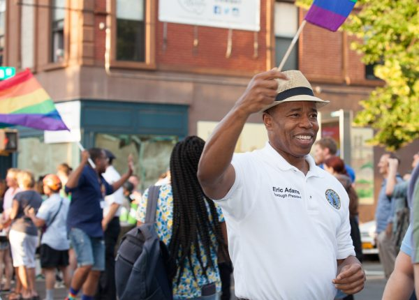Saturday, June 8th, 2019. Brooklyn, New York City - Brooklyn Borough president Eric Adams and other people at the Brooklyn Pride Parade/March. This year, Brooklyn celebrated the 23rd Annual Brooklyn Pride Parade/March. Brooklyn Pride was ranked within the top 10 of the 20 best places in the US to celebrate pride by matadornetwork.com. This year is the 50th anniversary of the Stonewall revolution. Credit: Photo by LoveIsAmor.com