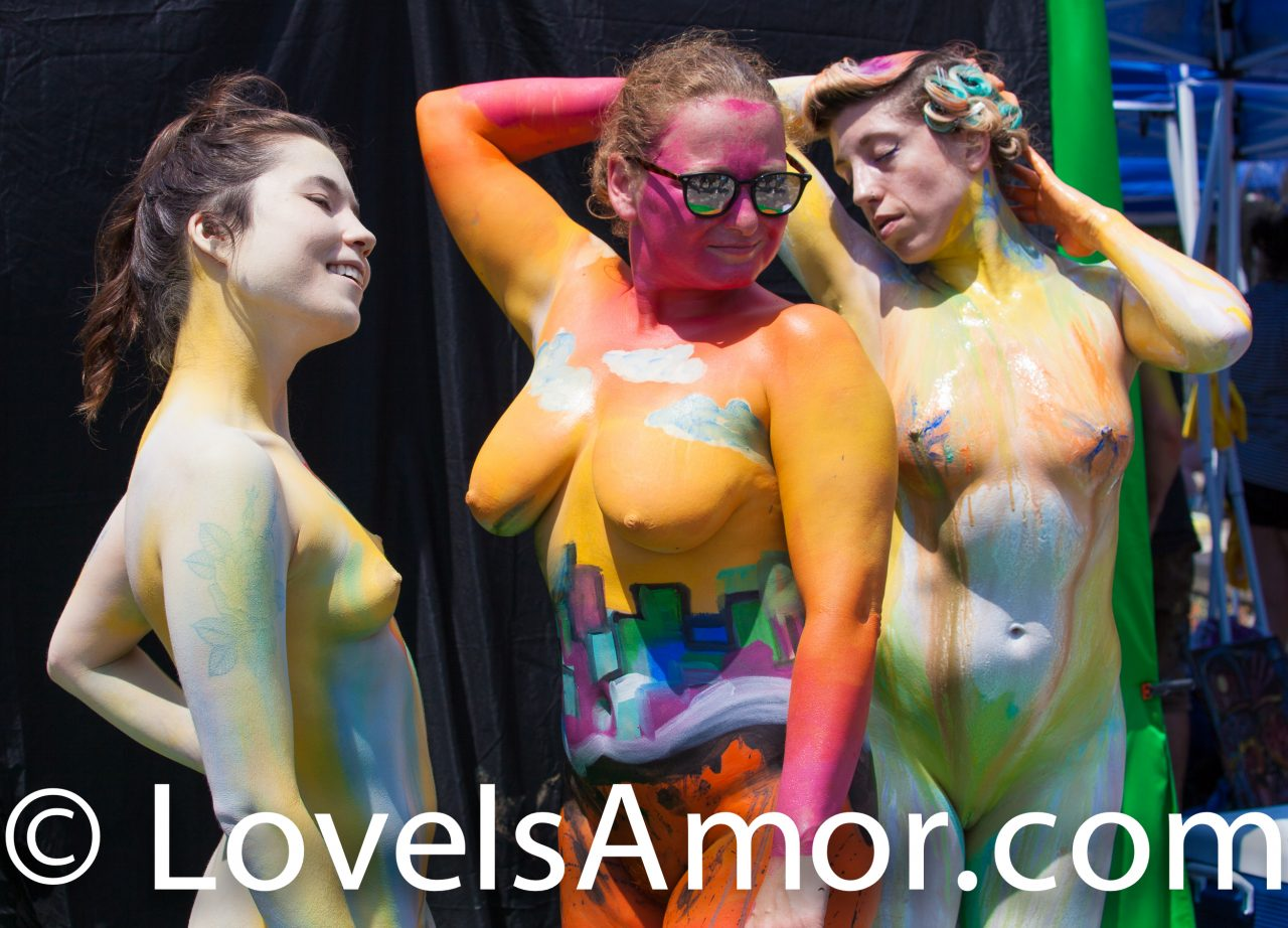 Saturday, July 20, 2019. New York City – Today was the Bodypainting Day 2019. The event was organized by Human Connection Arts. This was the 6th annual event and it was at the Maria Hernandez Park. The park is in the artistic mecca of Bushwick in Brooklyn, NYC. Photo by LoveIsAmor.com