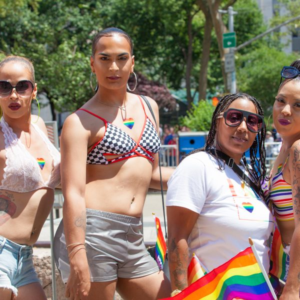 Sunday, June 30th, 2019. New York City - Beautiful women at the NYC Pride March. The 50th anniversary of the Stonewall Rebellion was on Friday, June 28th, 2019. People from around the world came to New York City to celebrate. Credit: Photo by LoveIsAmor.com